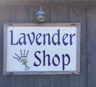 High County Lavendar Farm & Shop sign